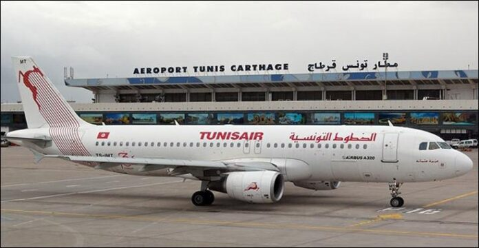 تونس تعليق كافة الرحلات الجوية