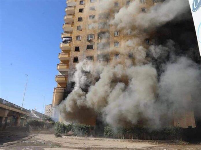 حريق عمارة الدائري