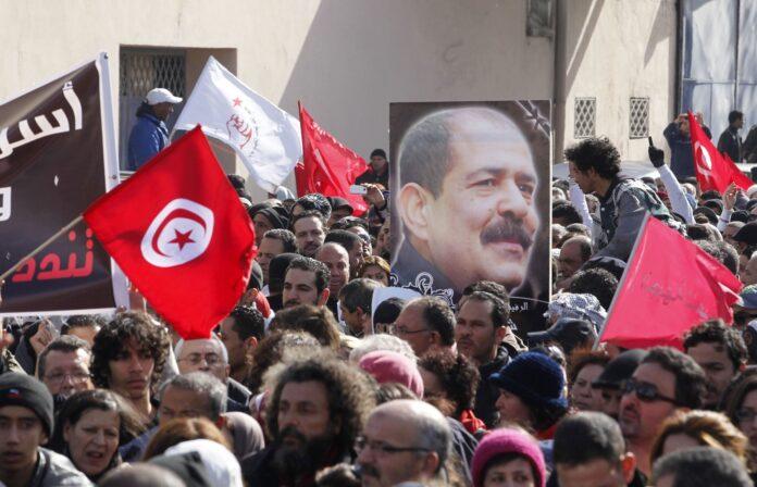 مسيرة الشهيد شكري بلعيد.