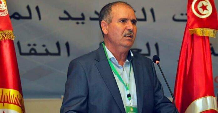 نور الدين الطبوبي الأمين العام للاتحاد العام التونسي للشغل.