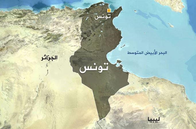 خريطة تونس