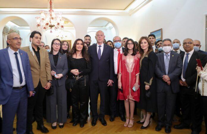 لقاء سعيد بالجالية التونسية في القاهرة