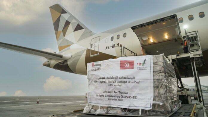 الإمارات ترسل لقاحات كوفيد-19 إلى تونس