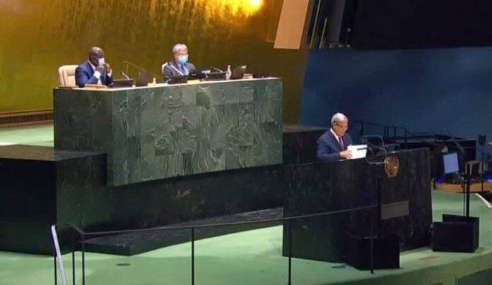 afin de corriger le chemin de la transformation démocratique afin qu'il soit à niveau. à la 76e session de l'Assemblée générale des Nations Unies.