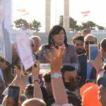 Abir Moussi-Plus d'un millier de sympathisants du parti ont répondu à l'événement annoncé il y a environ deux semaines par le chef du parti PDL, Abir Moussa. Cependant, à son arrivée, Mme Musa a appris qu'il lui était interdit d'entrer sur la Place des Martyrs. Les manifestants ont vivement protesté contre cette mesure, rappelant que le parti était déjà présent chaque année Place des Martyrs depuis 2016. Ils ont réclamé leur droit d'entrer.